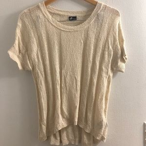 UO Sparkle & Fade Short-Sleeve Pullover Sweater
